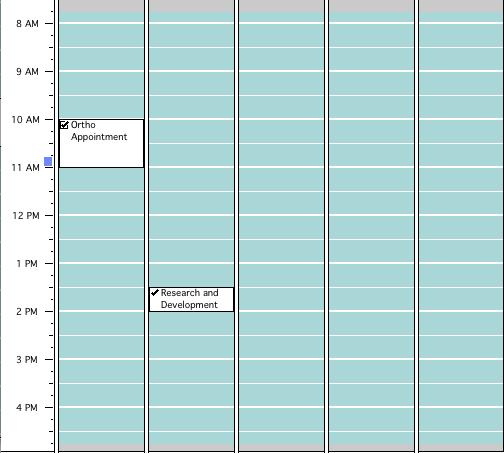April 25-29 Schedule